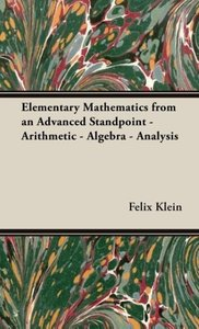 Elementary Mathematics from an Advanced Standpoint - Arithmetic