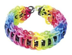 Rainbow Loom Starterset mit Metallhaken, Webrahmen für Gummibänd