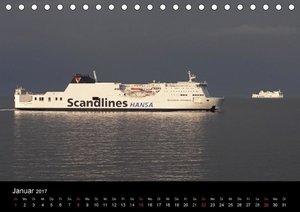 Rostock maritim - Fährschiffe (Tischkalender 2017 DIN A5 quer)