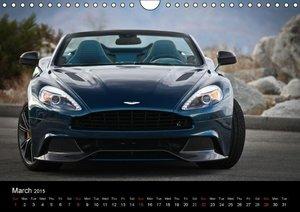 Aston Martin Vanquish Volante / UK-Version (Wall Calendar 2015 D