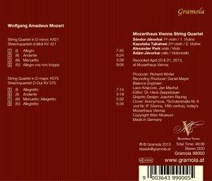 Streichquartette KV 421+575