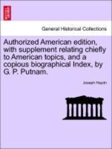 Authorized American edition, with supplement relating chiefly to