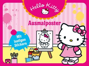 Hello Kitty: Ausmalposter