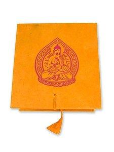 Kleine Klangschale mit hellem Klang in origineller Box mit Buddh