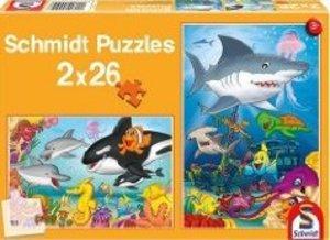 Schmidt Spiele 55510 - Buntes Meer, 2 x 26 Teile Puzzles
