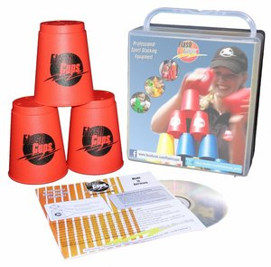 Flash Cups 1002 - Speed Stacking: FlashCups rot, 12 Stück, mit B