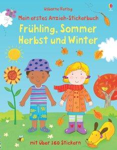 Mein erstes Anzieh-Stickerbuch: Frühling, Sommer, Herbst und Win