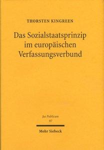 Das Sozialstaatsprinzip im europäischen Verfassungsverbund