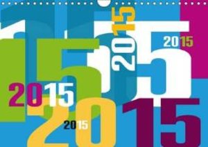 Calendrier typographique / 2015 (Calendrier mural 2015 DIN A4 ho