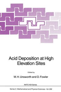 Acid Deposition at High Elevation Sites