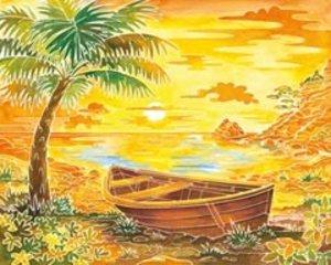 Ravensburger 29464 - Beach Paradise, Aquarelle Maxi, 30 x 34 cm