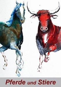 Pferde und Stiere (Posterbuch DIN A2 hoch)