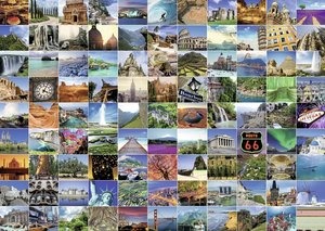 99 Beautiful Places on Earth 1000 Piece Puzzle