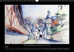 Ansichten aus Mitteldeutschland - Aquarellzeichnungen (Wandkalen