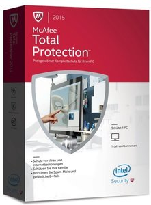 McAfee Total Protection 2015 (1PC/1Jahr) - Preisgekrönter Komple