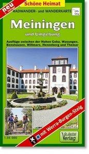 Meiningen und Umgebung 1 : 35 000. Wander- und Radwanderkarte