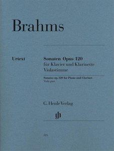 Sonaten für Klavier und Klarinette (oder Viola) op. 120,1 und 2.
