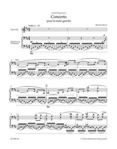 Konzert für die linke Hand für Klavier und Orchester