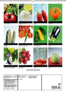 Gesundes Gemüse (Wandkalender immerwährend DIN A2 hoch)