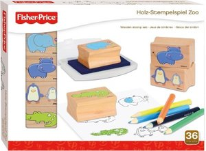 Simm 32580 - FisherPrice: Stempelset Zoo aus Holz