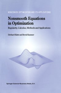 Nonsmooth Equations in Optimization
