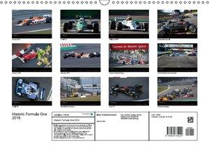 Historic Formula One 2016 (Wandkalender 2016 DIN A3 quer)