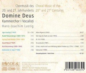 Domine Deus-Chormusik Des 20.Jh.