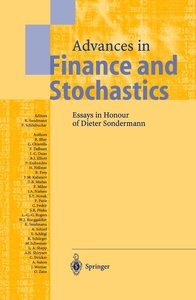 Advances in Finance and Stochastics
