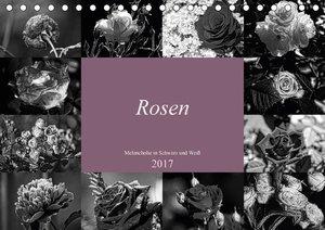 Rosen Melancholie in Schwarz und Weiß 2017 (Tischkalender 2017 D