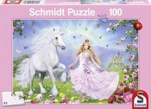 Schmidt Spiele 55565 - Prinzessin der Einhörner, 100 Teile Puzzl