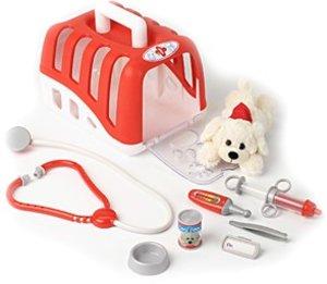 Theo Klein 4831 - Tierarztkoffer-Set mit Plüschhund und Zubehör