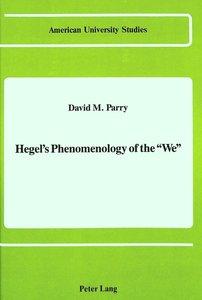 Hegel's Phenomenology of the 'We'
