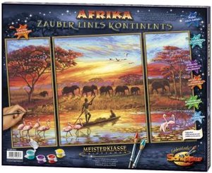 Schipper 609260627 - Afri-Zauber (Triptychon): MNZ, Malen nach Z