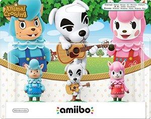 Amiibo Animal Crossing Collection - 3er Figuren Set (K. K., Rosi