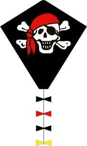 Invento 102105 - Eddy Jolly Roger, Piraten Drachen, 50 cm