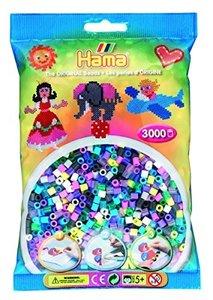 Hama 201-69 - Beutel mit 3000 Bügelperlen Mix 69