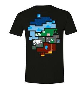 Minecraft - World - Herren T-Shirt - Schwarz - Größe XL
