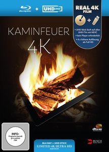 Kaminfeuer 4K (UHD Stick in Re