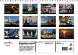 La Habana / Havanna (UK-Version) (Wall Calendar 2015 DIN A3 Land