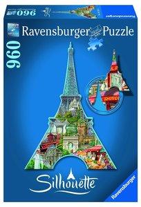 Ravensburger 16152,Eiffelturm, Paris 960 Teile, Silhouette Puzzl