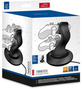 TWINDOCK Charging System - for PS4, black