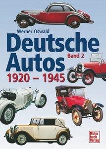 Deutsche Autos 2. 1920 - 1945