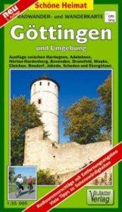 Göttingen und Umgebung 1 : 35 000. Radwander- und Wanderkarte