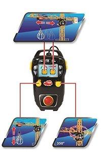 Dickie Spielzeug 203462412 - Mega Crane, Kabel-Fernsteuerung, li