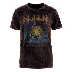 Vintage Pyromania (Acid Wash T-Shirt,Schwarz,XL)