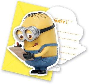 Minions Lovely Einladungskarten & Umschläge 6Stück