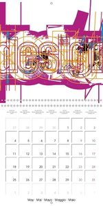 Text and design: Beyond monochrome (Wall Calendar 2015 300 × 300