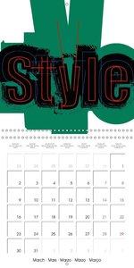 Text and design: Beyond monochrome (Wall Calendar 2015 300 × 300