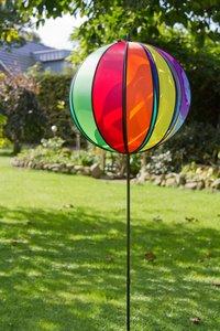 Invento 100821 - Spinning Ball Rainbow, 35 cm