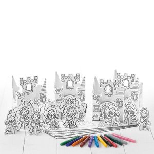 Calafant G2615X - Party Set Prinzessin für 4 Kinder, 4er Set, mi